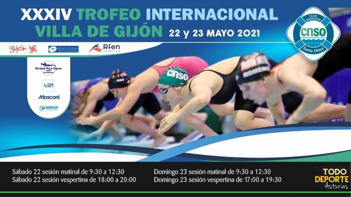 🖥 Directo –  NATACION – XXXIV Trofeo Internacional Villa de Gijón ( Domingo tarde)