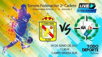 Directo – Fútbol 2ª Cadete – Grupo 2 – Llano 2000 vs Inmaculada